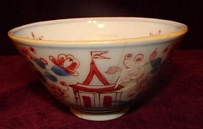 C. 1770 CHINESE EXPORT CLOBBERED IMARI TEA BOWL