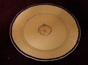 C. 1800 CHINESE EXPORT BLUE AND WHITE PLATE 9 1/4