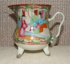C. 1850 CHINESE EXPORT ROSE MEDALLION CREAMER/PITCHER