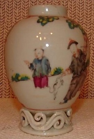 18TH CENTURY CHINESE EXPORT FAMILLE ROSE TEA POY