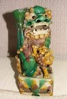 KANGXI PERIOD FOO DOG WITH JOS STICK