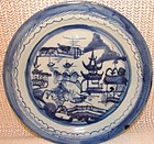 C. 1890 BLUE CANTON DINNER PLATES 9 3/4
