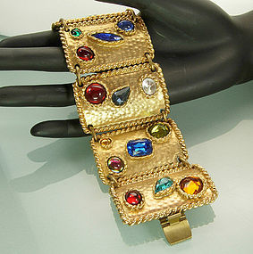 Statement Edouard Rambaud Paris Bracelet Huge Stones