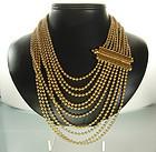 1990 Yves Saint Laurent YSL Brilliant Goldtone Necklace