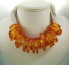 1980s Ugo Correani Italy Lucite Necklace: African Rings