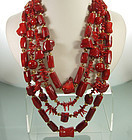 Sumptuous Huge Jose Maria Barrera Red Coral Necklace