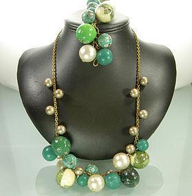 Calla Italy Arte Povera Style Necklace Bracelet Set