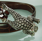 Kieselstein-Cord Sterling Toad Buckle on Alligator Belt