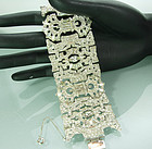 Huge Statement Late Art Deco Ledo 1940s Strass Bracelet