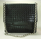 Bottega Veneta Nero Intrecciato Medium Shoulder Bag
