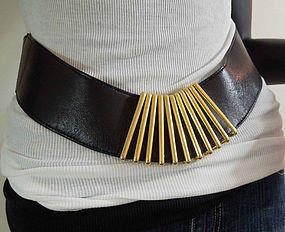 1980s Signed Karl Lagerfeld Statement Belt France