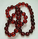 1930s Cherry Amber Bakelite Necklace 140 Grams 30 Inch
