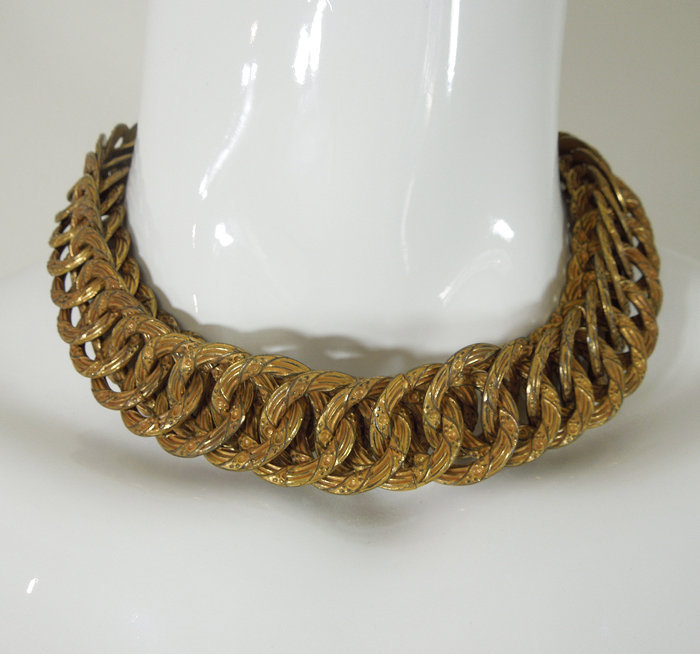 40s Joseff of Hollywood Byzantine Style Ornate Necklace