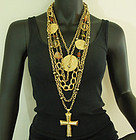 Amazing Huge Les Bernard Tribal Coins Tiered Necklace