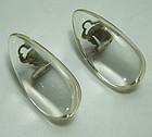 Vintage Signed Monies Clear Lucite Big Statement Earrings