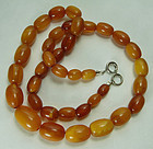 Vintage Butterscotch Egg Yolk Honey Amber Necklace 24.5 Grams