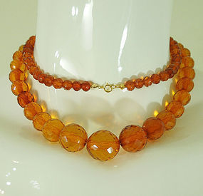 """Details about  /Antique Natural  light  honey    Baltic Amber Beads Necklace .20.5 /"""""""