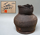 Japanese Pottery Vase by Jeff Shapiro