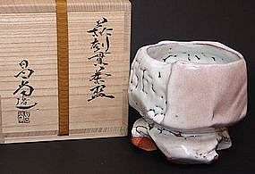 Breathtaking Hagi Chawan Tea Bowl by Kaneta Masanao