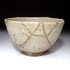 Edo Period E-Karatsu Chawan with Gold repair