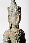 Excavated Siam Ayutthaya Bronze Statue 16th.cent.