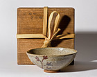 E-Karatsu Chawan with original box - Edo Period