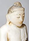 18th. century Burmese Alabaster Buddha Statue