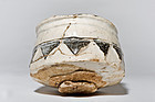 Shino-Oribe Chawan with Kintsugi Gold Restoration Edo Period