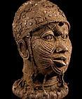 Massive 7 kg Ife Bronze Head of Oni (O�ni) Yoruba