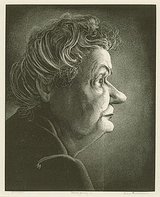 Leo Meissner, wood engraving,