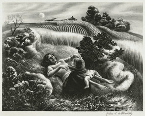 "John S. deMartelly, lithograph, ""Ride-a-Cock-Horse"""