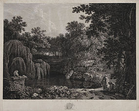 "William Woollett, engraving, ""Solitude,"" 1778"