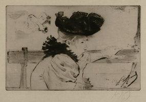 "Louis August Mathieu Legrand, etching, ""Frio"""