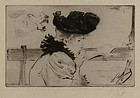"Louis August Mathieu Legrand, etching, ""Frio"""