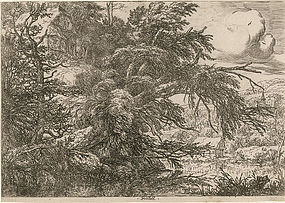 Jacob van Ruisdael, Etching,