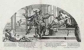 "Nicolas Mignard, ""Odysseus and Hermes Before Circe"""