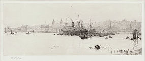 William Wyllie, Etching,