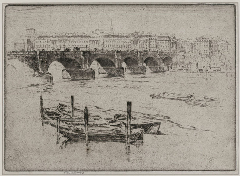 "Joseph Pennell, ""Waterloo Bridge and Somerset House"""