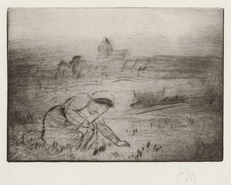 "Louis Auguste Mathieu Legrand, Etching, ""Le Mee"" 1911"