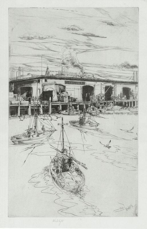 "John Winkler, Etching, ""Standard Fisheries"" 1941"