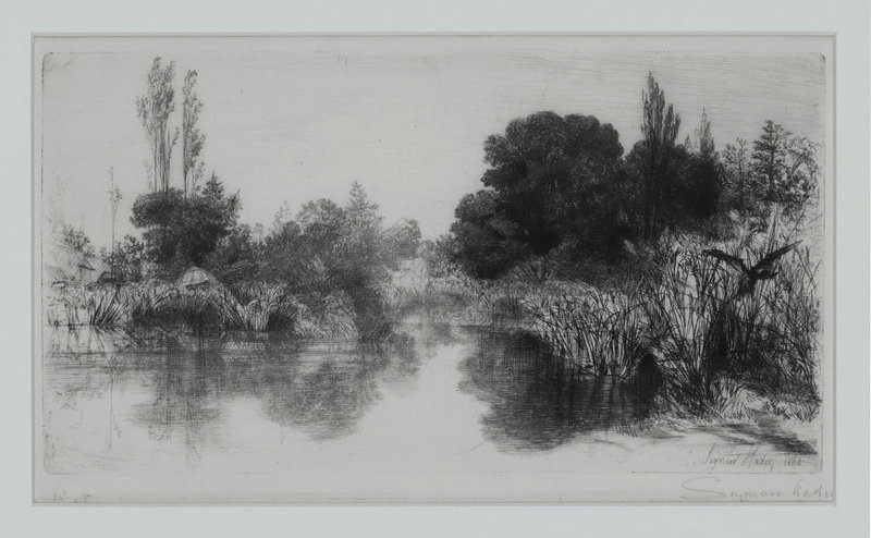 "Sir Francis Seymour Haden, Etching, ""Shere Mill Pond, No. II"" 1860"