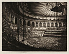 "Francis Sydney Unwin, Etching, ""The Albert Hall"" 1916"
