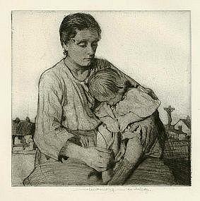William Lee Hankey etching,