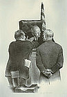 "Joseph Hirsch, Lithograph, ""Conference at the Bench"""