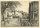 "Vaugham Trowbridge, Etching, ""Arles"""