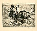 "Charles P. Renouard, Etching, ""Bathers"""