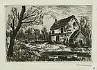 "Maurice de Vlaminck, etching, ""Bretoncelles"""