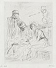 """Jean Louis Forain, etching, """"La Lecture Du Dossierr"""""""