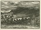 "Leo Meissner,  wood engraving, ""From Mountain Tops..."""