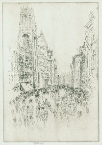 Joseph Pennell, etching,
